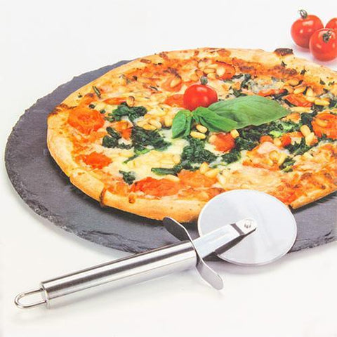 Image of Atopoir Noir Slate Pizza Board with Pizza Cutter-Universal Store London™
