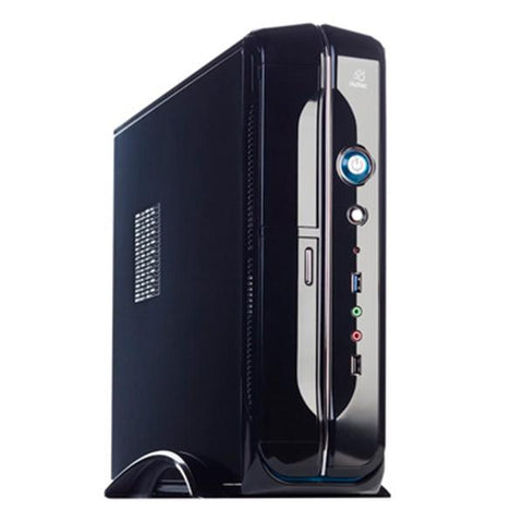 ATX Micro Box with Power Feed Hiditec CH50SLM118 USB 3.0 Black-Universal Store London™