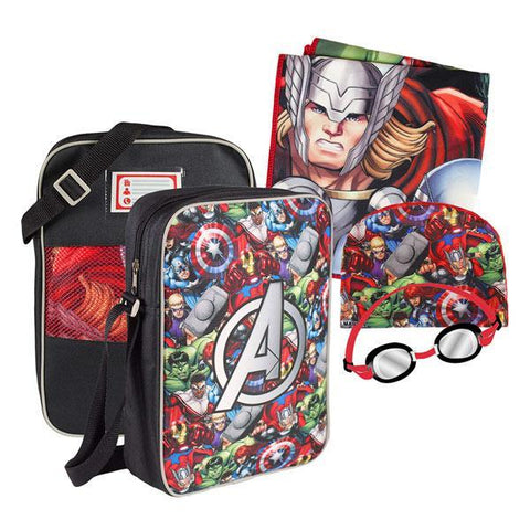 Image of Avengers Swimming Pool Backpack (4 pieces)-Universal Store London™