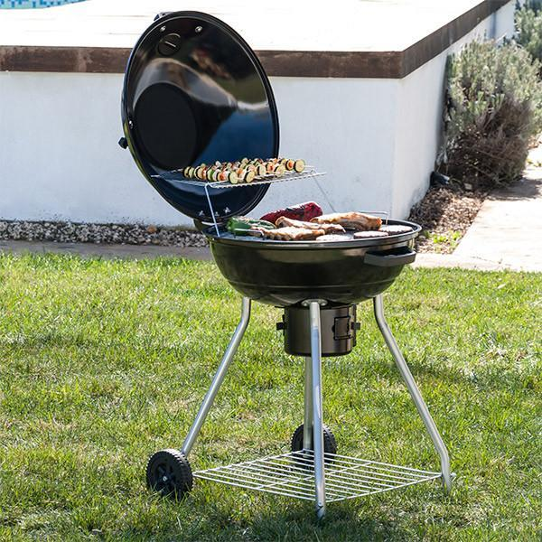 BBQ Classics Black Charcoal Barbecue with Lid and Wheels-Universal Store London™