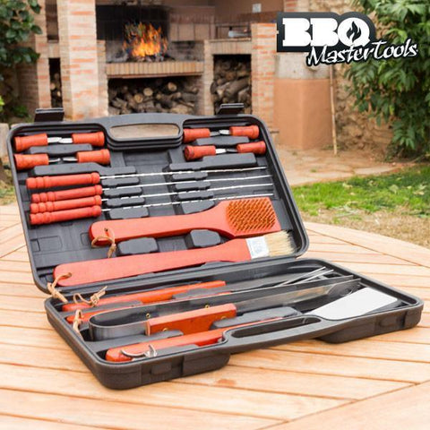 Image of BBQ Master Tools Barbecue case (18 Pieces)-Universal Store London™