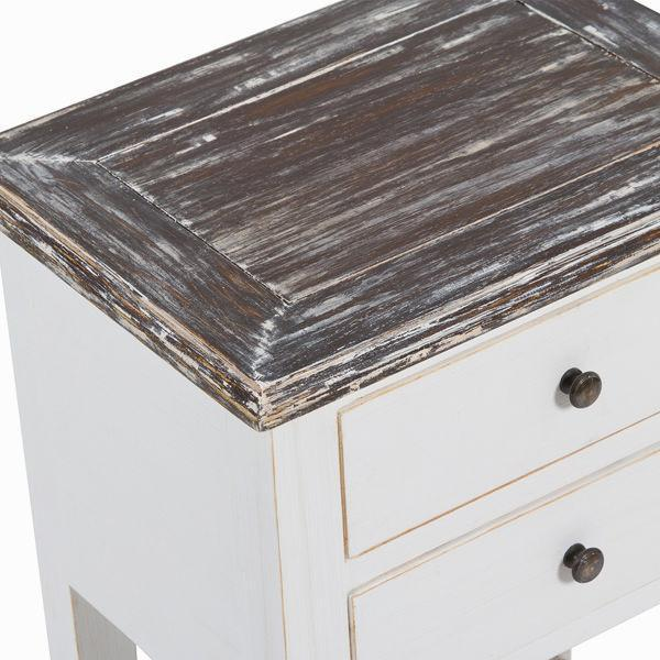 Bedside table 2 drawers by Craften Wood-Universal Store London™