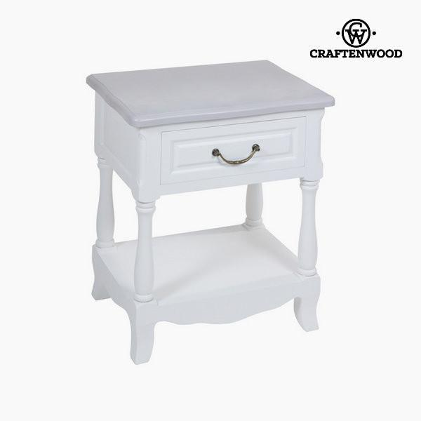 Bedside table white altea by Craftenwood-Universal Store London™