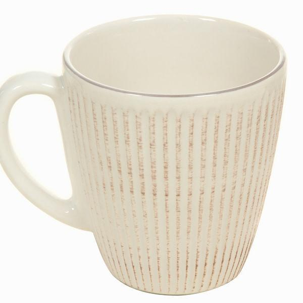Beige mug set of 6 - Kitchen's Deco Collection by Bravissima Kitchen-Universal Store London™