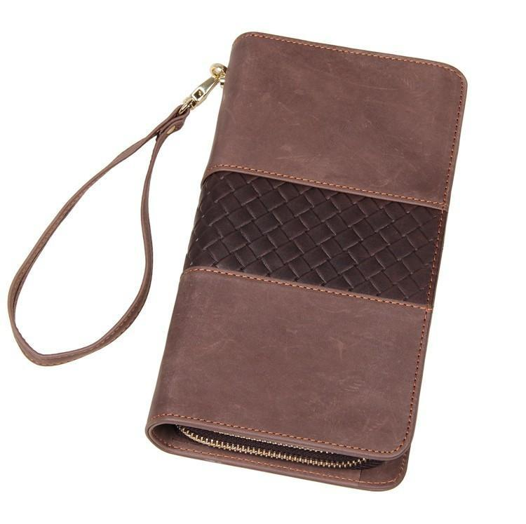 'Birkenhead' Unisex Genuine Leather Business Clutch Bag - Brown-Universal Store London™