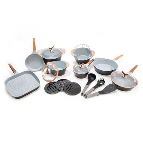 Image of Black Premium 10143502 Pans and cookware set (25 pieces)-Universal Store London™