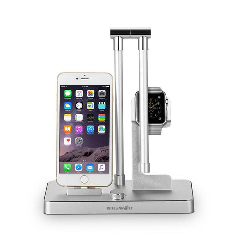 Image of Blitzwolf BW-MFH1 4 in1 Multifunctional Charging Station Holder With LED Lamp [Apple MFI Certified]-Universal Store London™