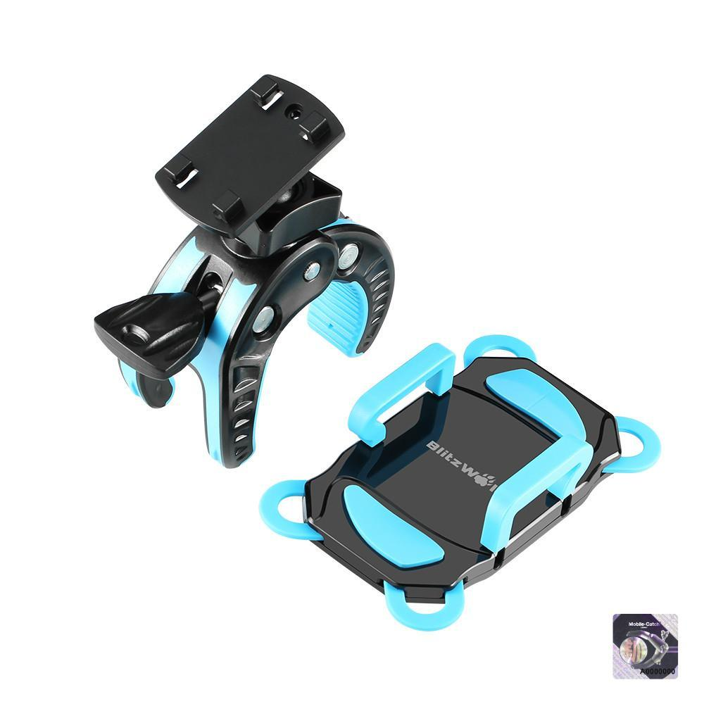 BlitzWolf® BW-MH2 Heavy Duty Handlebar Bike and Motorcycle Smartphone Holder Mount-Universal Store London™