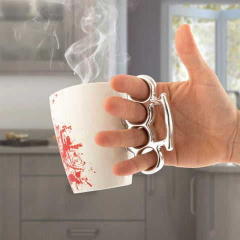 Image of Bloody Mug with Brass Knuckles-Universal Store London™