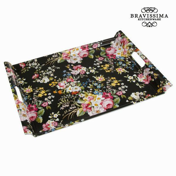 Bloom black tray - Kitchen's Deco Collection by Bravissima Kitchen-Universal Store London™