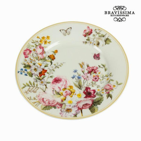 Image of Bloom white dessert dish - Kitchen's Deco Collection by Bravissima Kitchen-Universal Store London™