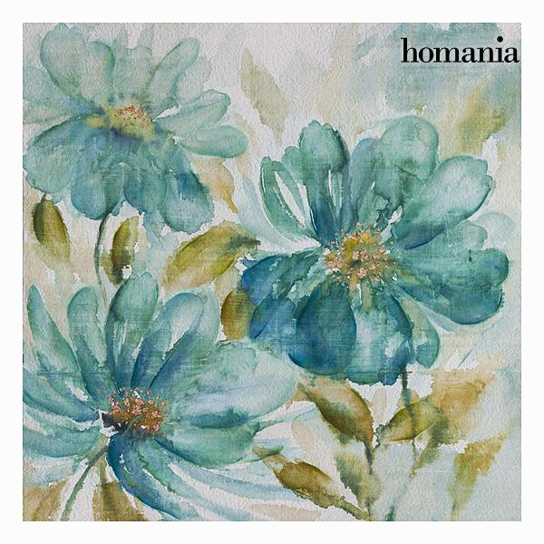 Blue flowers canvas frame by Homania-Universal Store London™