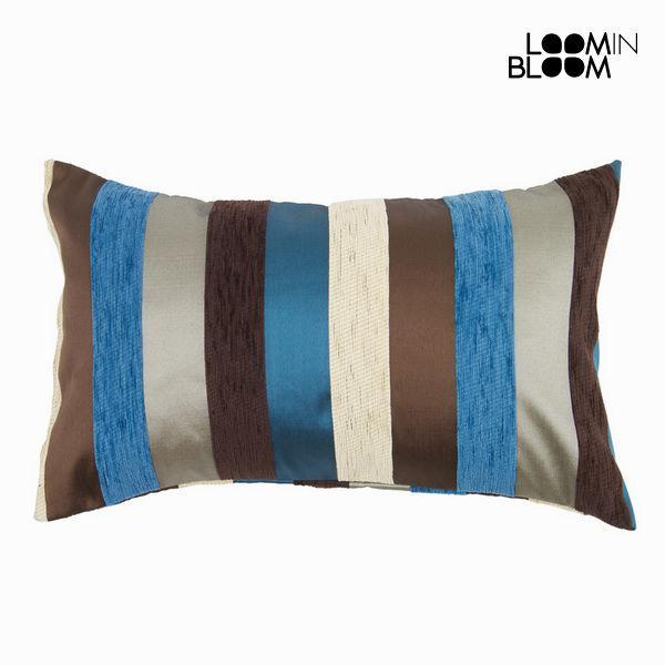 Blue motegi cushion - Colored Lines Collection by Loom In Bloom-Universal Store London™