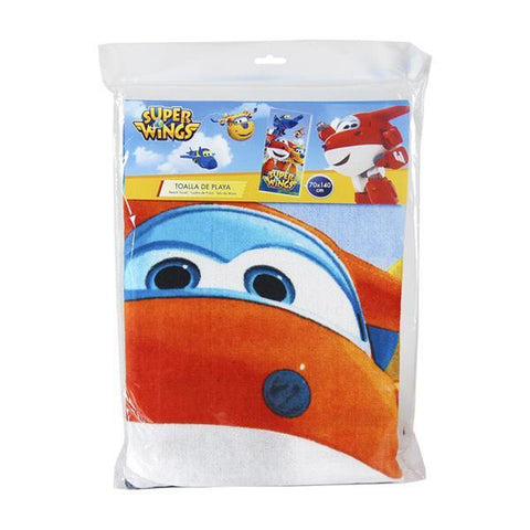 Image of Blue Super Wings Beach Towel-Universal Store London™