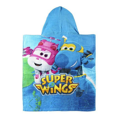 Image of Blue Super Wings Hooded Poncho Towel-Universal Store London™