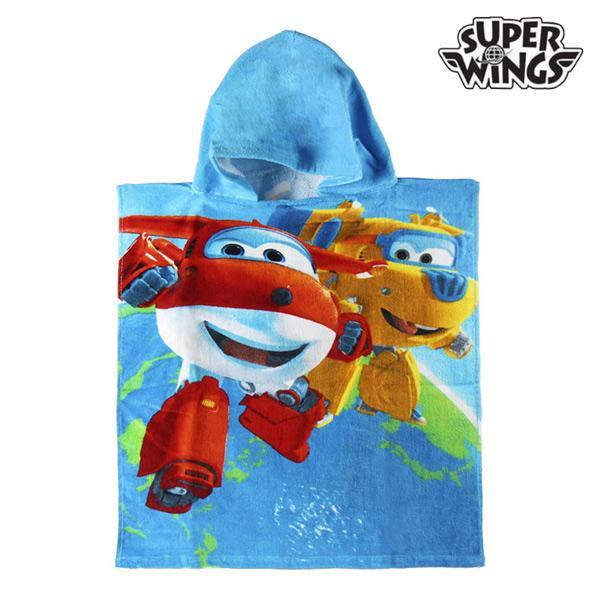 Blue Super Wings Hooded Poncho Towel-Universal Store London™