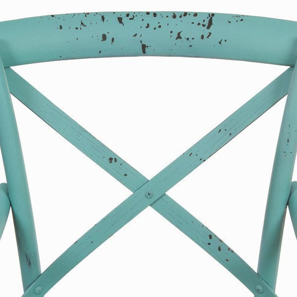 Blue wooden chair with arms blue by Craften Wood-Universal Store London™