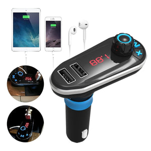 Bluetooth Car Kit MP3 Player FM Transmitter Dual USB Car Charger Remote Control-Universal Store London™