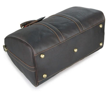 'Boston' Leather Travel Duffle Bag-Universal Store London™