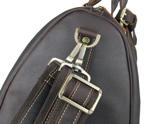 Image of 'Boston' Leather Travel Duffle Bag-Universal Store London™