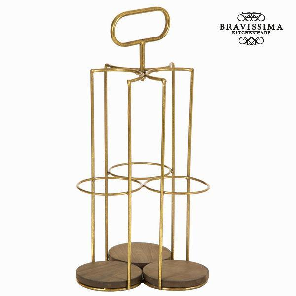Bottle rack for 3 bottles - Art & Metal Collection by Bravissima Kitchen-Universal Store London™