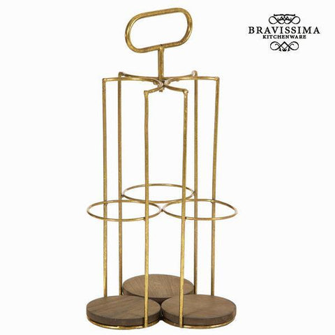Image of Bottle rack for 3 bottles - Art & Metal Collection by Bravissima Kitchen-Universal Store London™
