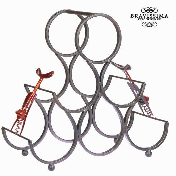 Bottle rack for 6 bottles - Art & Metal Collection by Bravissima Kitchen-Universal Store London™