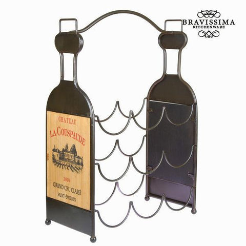 Image of Bottle rack for 9 bottles - Art & Metal Collection by Bravissima Kitchen-Universal Store London™