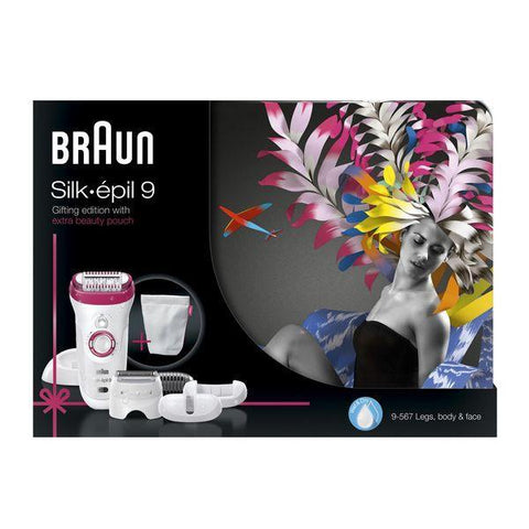 Image of Braun Silk-épil Limited Edition 9 9-567 Wet & Dry + 6 extra's-Universal Store London™