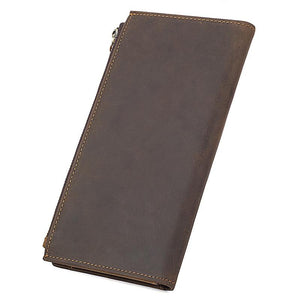 Brown Crazy Horse Leather Wallet