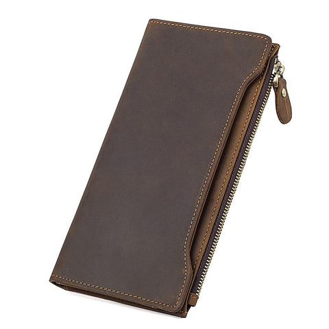 Image of Brown Crazy Horse Leather Wallet-Universal Store London™