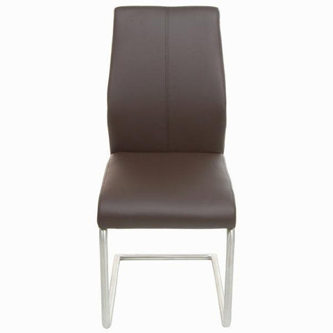 Image of Brown faux leather chair by Craftenwood-Universal Store London™
