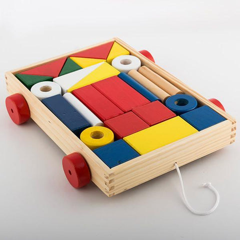 Building Blocks with Trolley (24 pieces)-Universal Store London™