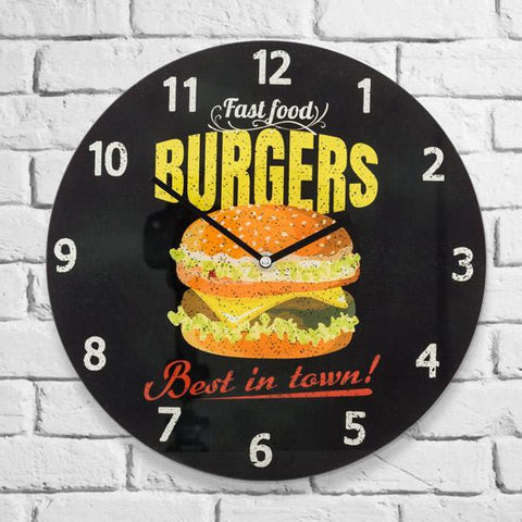 Image of Burgers Wall Clock-Universal Store London™