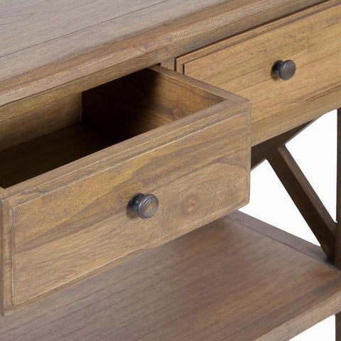 Image of Cabinet 2 drawers amara - Ellegance Collection by Craften Wood-Universal Store London™