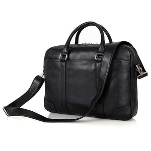 Calabria Italian Leather Business Briefcase - Black-Universal Store London™