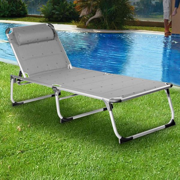 Campart Travel BE0639 Folding Deck Chair-Universal Store London™