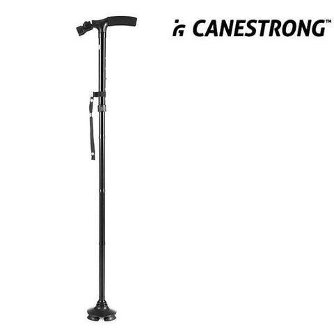 Image of Canestrong Foldable Walking Stick with LED and Pivoting Base-Universal Store London™