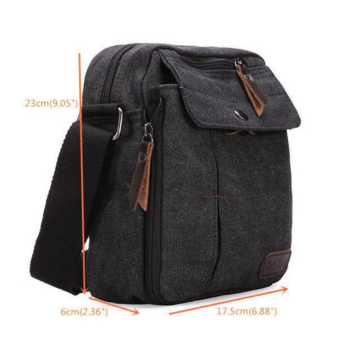 Image of Canvas Shoulder Multifunctional Messenger Bag-Universal Store London™