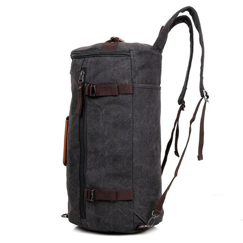 Image of Canvas Universal Cylinder Bag - Black-Universal Store London™