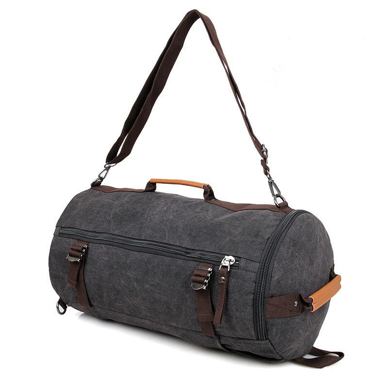 Canvas Universal Cylinder Bag - Black-Universal Store London™