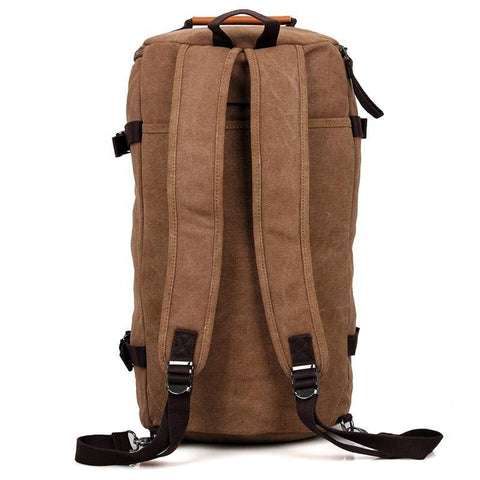Image of Canvas Universal Cylinder Bag - Brown-Universal Store London™