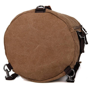 Canvas Universal Cylinder Bag - Brown-Universal Store London™