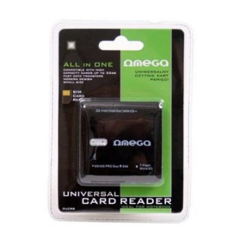 Image of Card Reader Omega OUCRB Flash SIM Black-Universal Store London™