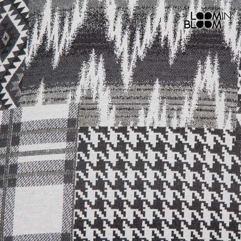 Image of Carla black patchwork cushion by Loom In Bloom-Universal Store London™