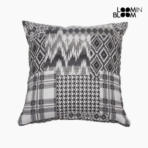 Carla black patchwork cushion by Loom In Bloom-Universal Store London™