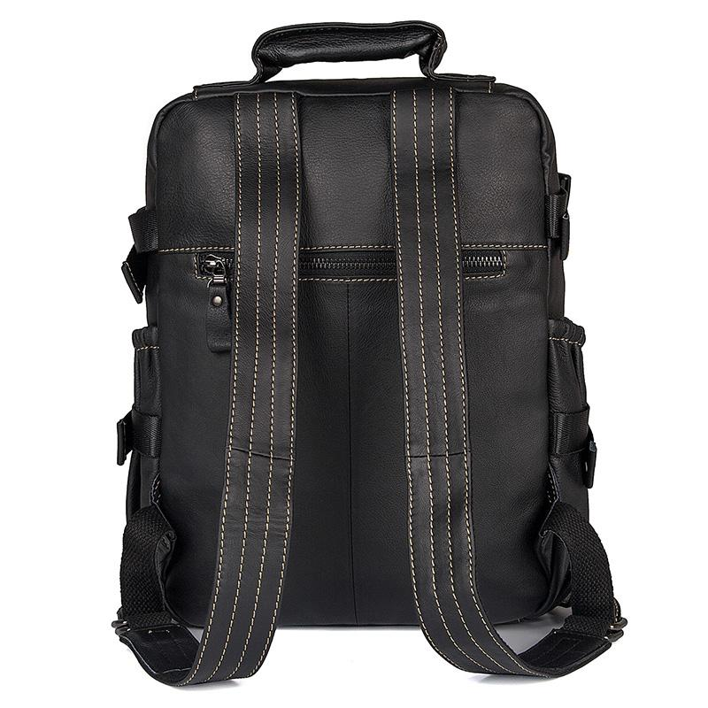 Carnaby Street Leather Medium Backpack, Black-Universal Store London™