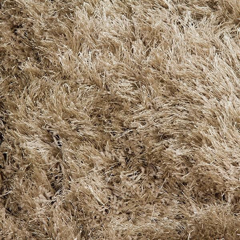 Carpet Polyester Silk Beige (170 x 240 x 8 cm) by Loom In Bloom-Universal Store London™
