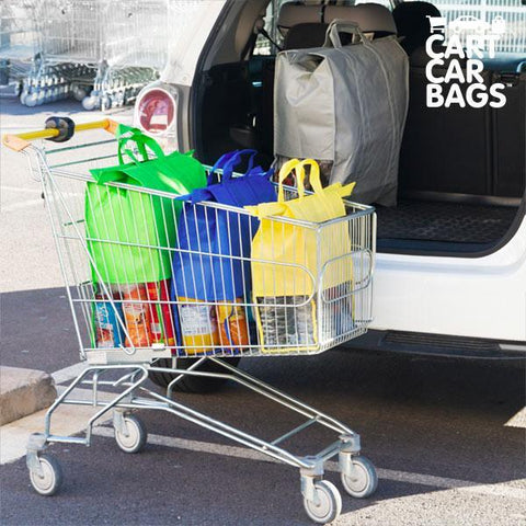 Image of Cart Car Car Boot Carriers bags for Shopping (pack of 4)-Universal Store London™