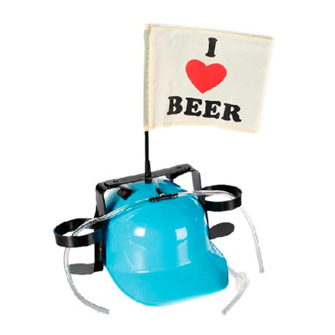 Image of I Love Beer Helmet with Drink Holders-Universal Store London™